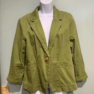 Cartonnier Light Green Jacket Size 12